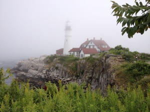 Portland Head LIghthouse - beautiful even in fog.