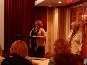 Cindy Peternelj-Taylor introduces our COPE speakers.